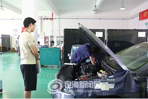 定海市汽车维修工技能大比武今天在定海举行